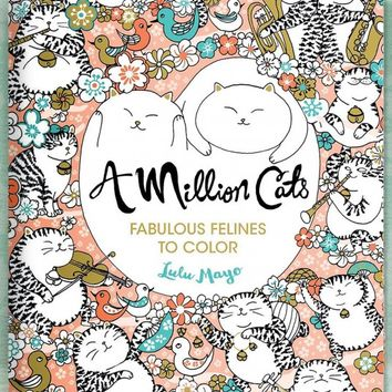 Books - A Million Cats Adult Coloring Book