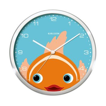 KARLSSON Wall Clock - Peekaboo Goldfish