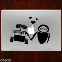 Wall-e and Eve Lover Decal Sticker For Macbook 13 15 inch Pro Air Wallie