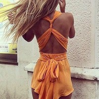 Tangerine Twist Playsuit