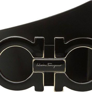 CHEN1ER Salvatore Ferragamo Adjustable Belt - 9219 Black Men's Belts