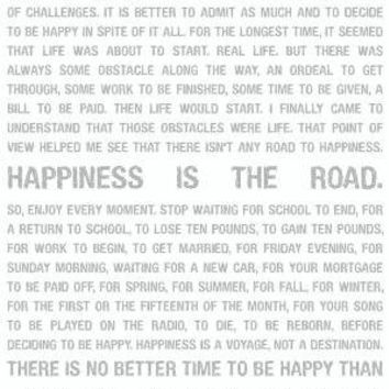 Happiness is Road Destination Enjoy Moment by GeeZees on Etsy