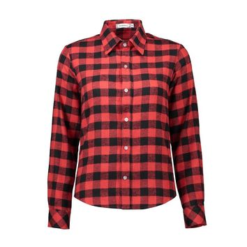Plaid collared shirts with button up front ~ Plus size available