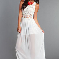 ANGELIC CROCHET MAXI DRESS