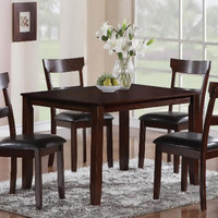Chocolate Brown Dinette Black Cushion| Henderson Five Piece Dining Set