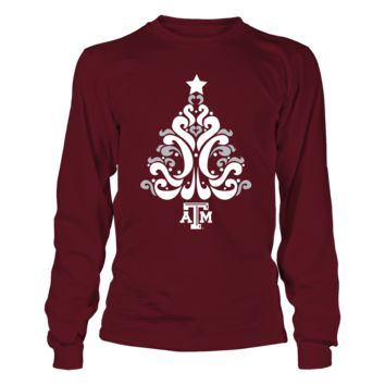 Texas A&M Aggies - Pattern Tree - T-Shirt - Officially Licensed Fashion Sports Apparel
