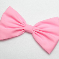Hair Bow Clip - Sweet Pink