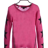 Flowers By Zoe Star Sleeve Sweater in Pink
