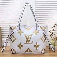 Louis Vuitton LV Women Fashion Leather Tote Crossbody Clutch Bag