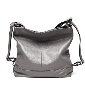 Genuine Leather Patchwork Pleated Hobos Totes  Bags Casual Use