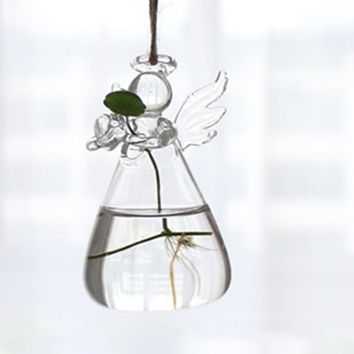 LanLan Hanging Transparent Glass Globe Plant Terrariums Succulents Moss Miniature Garden Planters Home Decor Gifts