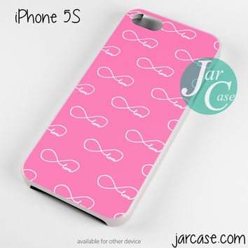 Pink infinity love Collage Phone case for iPhone 4/4s/5/5c/5s/6/6 plus