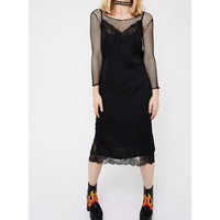 Midnight Don't Slip Midi Dress
