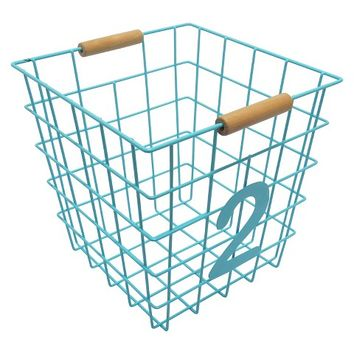 Circo™ numbers wire basket 2, Turquoise