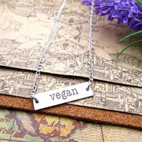 Stainless Steel Vegan Necklace