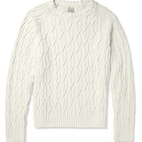 Hardy Amies - Cable Knit Cotton Sweater   MR PORTER