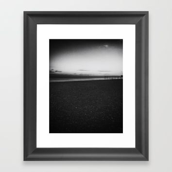 Sunset black and white photography Framed Art Print by Taoteching / C4Dart