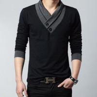 Mens Cool Slim Long Sleeve Shirt