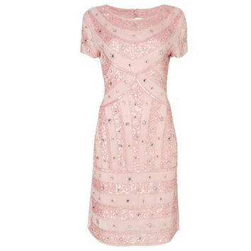 Beaded Vintage Inspired Party Dress