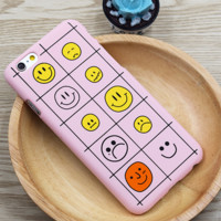 Many face pink phone case for iPhone 6 6S 6plus 6Splus 1108TB-ZM