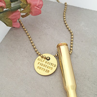 Half United Eastwood Rifle Bullet Necklace