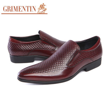 genuine leather mens dress shoes casual black wedding business office designer male shoes men foot wear