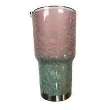 Tiffany's Transition Silver Paisley Skull Tumbler Warehouse Tumbler
