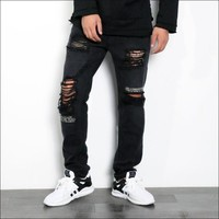 Weathered Casual Pants Jeans [277905670173]