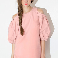 Pink Flare Sleeve Half Sleeves Dress