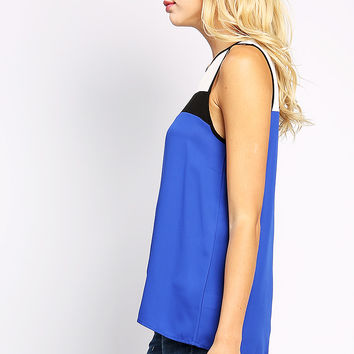 Color Blocked Sleeveless Top