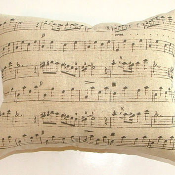 SALE - Musical Notes Pillow