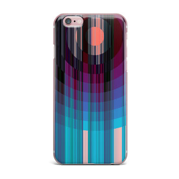 "Nina May ""Nova Sun"" Blue Geometric iPhone Case"