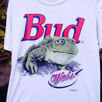 90'S BUDWEISER Frog Shirt Size Medium