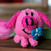 Peggy the Piggy knitting pattern for beginners and advanced knitters, spring gift and decoration, easter, gift for kids and adults