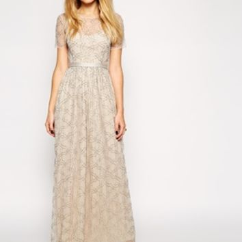 Needle & Thread Embellished Geo Tulle Maxi Dress at asos.com