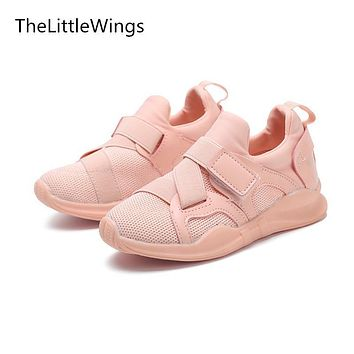 TheLittleWings Autumn 2017 new kids shoes breathable boys loafers girls casual school shoes sneakers Super soft and comfortable