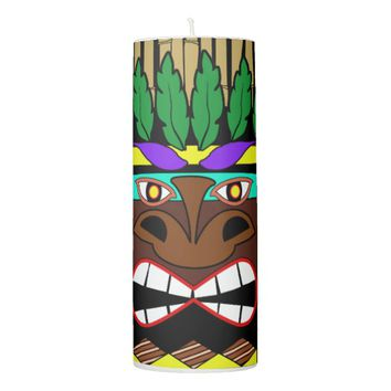 Totem Pole Luau Party Pillar Candle