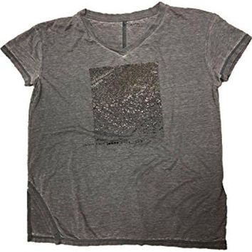 ESB3DS Calvin Klein Jeans Cap Sleeve V-Neck T-Shirt In Marble Grey