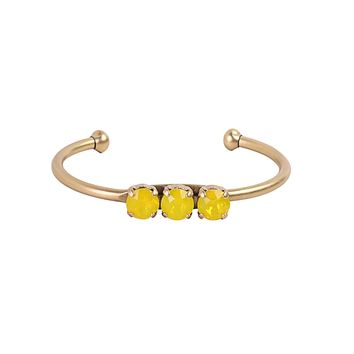 ROSALIE CUFF IN YELLOW OPAL
