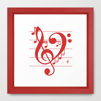 Love Music ~ Valentines Edition ~ Framed Art Print by RichCaspian