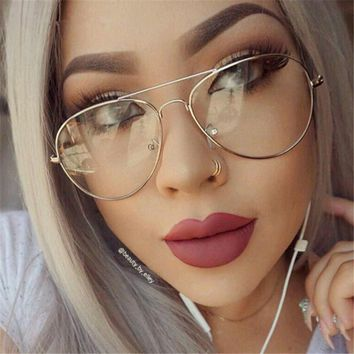 Aviator Eyewear Frames Vintage Eyeglasses Women Eye Glasses Frames Female Spectacle Frame Grade Plain Optical Glasses