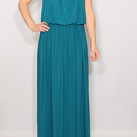 Teal bridesmaid dress Long Maxi dress Full length dress