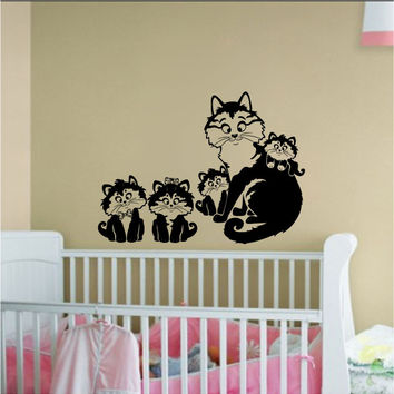 Kittens Silhouette Vinyl Wall Decal Sticker Graphic