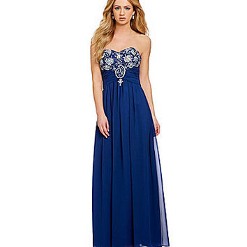 B. Darlin Sweetheart Jeweled Bust Gown | Dillards.com