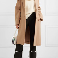 Stella McCartney - Knit-trimmed wool coat