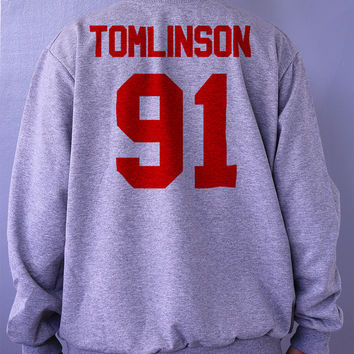 Tomlinson 91 Gray Sweatshirt Sweater Crew neck Shirt – Size S M L XL