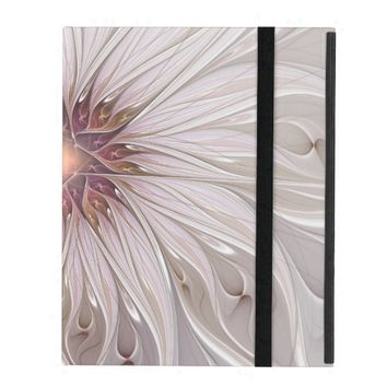 Floral Fantasy, Abstract Modern Pastel Flower iPad Folio Cases