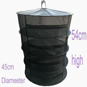"Photo Bag Harvest DRY 17"" 4 layers  Detachable Net Mesh Hanging Herb Drying Rack zipper drying mesh dry net"