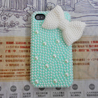 iphone 4 4S hard Case Cover with pearl For iPhone 4 Case, iPhone 4 S Case, iPhone 4 GS Case,iPhone hand case    -153