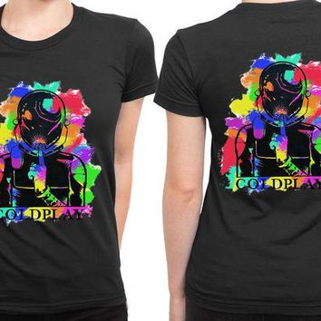 VONEED6 Coldplay Abstract Colour 2 Sided Womens T Shirt